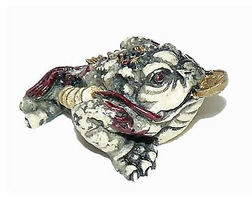 Lot de 12 Amulette grenouille de richesse