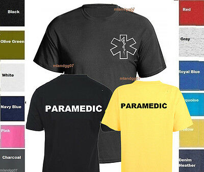 Paramedic T-Shirt Emergency Medical Services Service  TWO SIDES PRINT SZ S-5XL