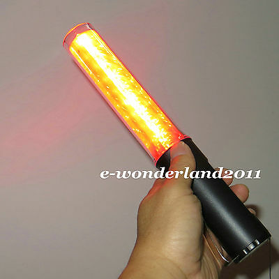 11 LED Safety Traffic 4-mode Control Red LED Light magnet wand baton magnet