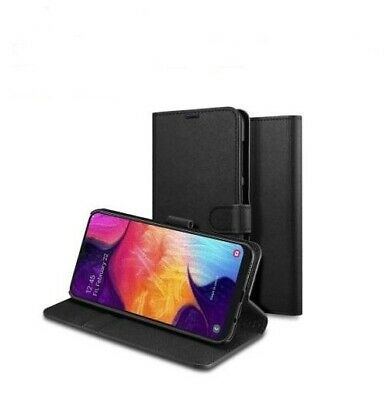 BLACK WALLET Leather Case Card Slots Phone Cover Samsung Galaxy Young GT-S5360