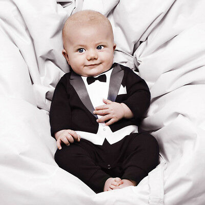 Baby Boy Formal Tuexedo Suit Outfit Party Wedding Photo Props Size: 000,00,0,1,2