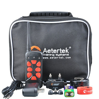 Aetertek AT-215D Rechargeable Remote Dog Trainer Collar Shock Control No Bark