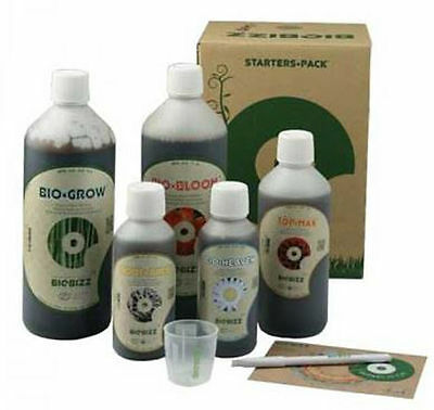 BioBizz Starter Pack Bio Bizz Düngerset Grow Dünger Set indoor Top Max Bloom