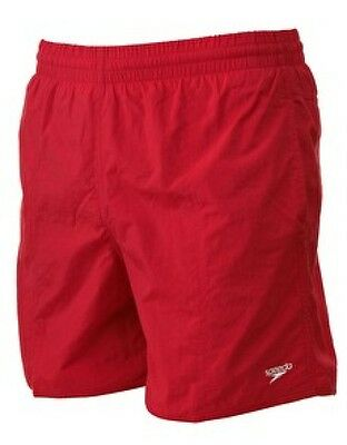 Mens Speedo Solid Leisure Swimming Shorts  Red  Brand New As From Speedo.
