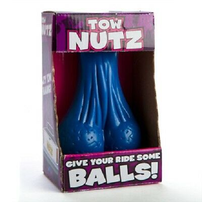 BLUE TOW NUTZ - NOVELTY BLUE TOW NUTS BALLS SACK NADS FOR CAR TRUCK TRAILER