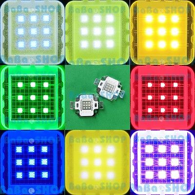 10W Cool Pure Warm White Royal Blue Red Green Purple UV High Power LED Light DIY