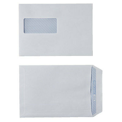 Office Depot C5 90gsm White Window Business Envelopes – Box of 500 self seal