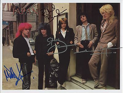 Japan David Sylvian SIGNED Photo 1st Generation PRINT Ltd 150 + Certificate / 1