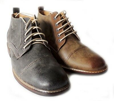 *FERRO ALDO* MENS ANKLE BOOTS DRESSY CASUAL LEATHER LINED CHUKKA LACE UP SHOES