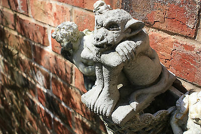(New) Home & Garden Stone Gargoyle Croucher Garden Ornaments~ Bespoke Detailed