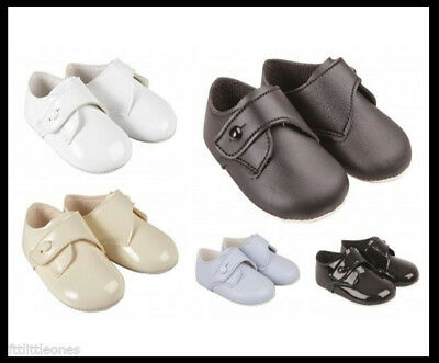 Baby Boys Pram Shoes,toddler,button,christening/baptism/wedding,baypods