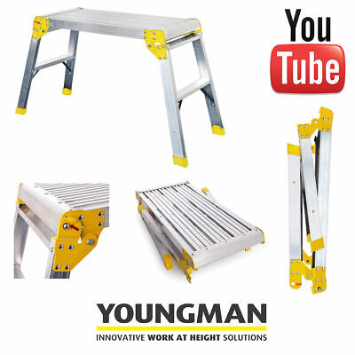 Youngman Odd Job Platform step Ladder Decorators work Bench Folding Step Hop up