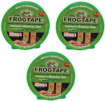 3x FrogTape Multi-Surface Masking Tape Pack Set - Green - 24mm x 41.1m