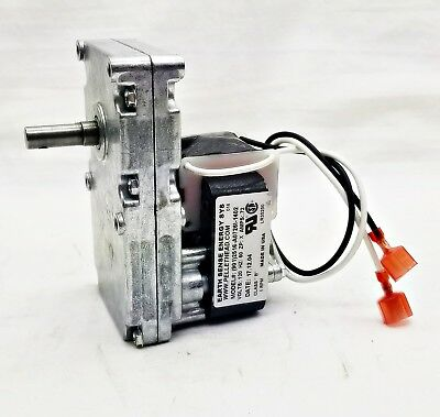 BRECKWELL Auger Feed Motor W/Hole - Fireplace Pellet Stove 1 RPM CW - C-E-017
