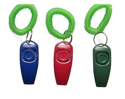 Pack of 3 Puppy Training Clicker and Whistle
