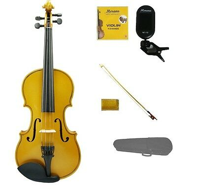 NEW 4/4 FULL SIZE STUDENT GOLD VIOLIN, GOLD BOW,CASE,TUNER,STRINGS,ROSIN