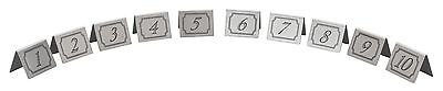 Stainless Steel Table Numbers Restaurant Bar Pub Cafe Table Number 1-10
