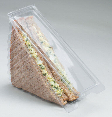 500 x Clear Standard Hinged Sandwich Wedges Catering Canteen Kitchen