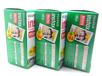 3 x FUJI INSTAX MINI FILM 20 Pack For 7 8 9 25 50 70 90 By 1st CLASS ROYAL MAIL