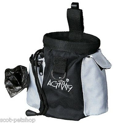 Dog Activity Baggy 2in1 Snack Bag With 100 Black Dog Poop Bags On A Roll