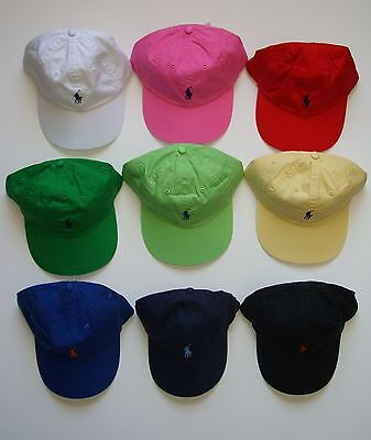 NEW Polo Ralph Lauren Baseball Cap Hat Small Pony Adjustable Strap Asst. Colors.
