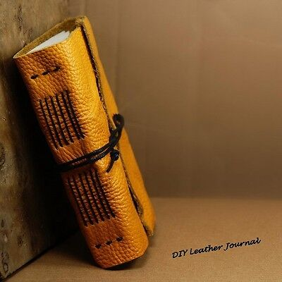 Vintage Handmade Soft Leather Notebook Journal Diary Blank Book 240 pages NEW