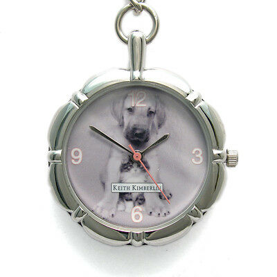 Keith Kimberlin fob watch Key Ring Cute Puppy and Kitten New 24b