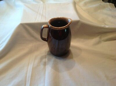 Vintage Hull China/Pottery Brown Drip Pitcher Stoneware Gorgeous Made in USA