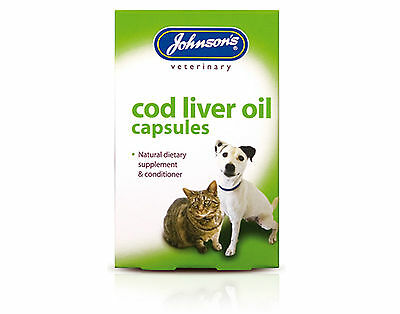 Johnsons Cod Liver Oil Capsules Supplement For All Cats And Dogs