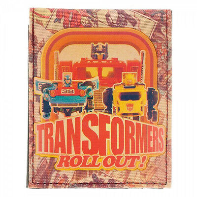 Transformers Sublimated Print Anniversary Bi Fold Wallet NEW Vintage Toys
