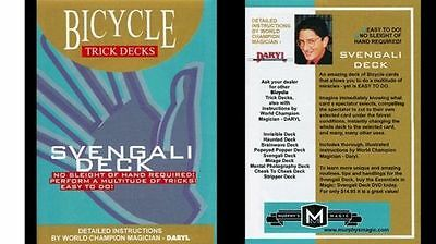 BLUE SVENGALI DECK BICYCLE back (number card force) magic trick playing cards