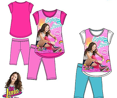 Girls SOY LUNA Character Short Sleeves Top & Legging Outfit Set,4,5,6,8,10,12yrs