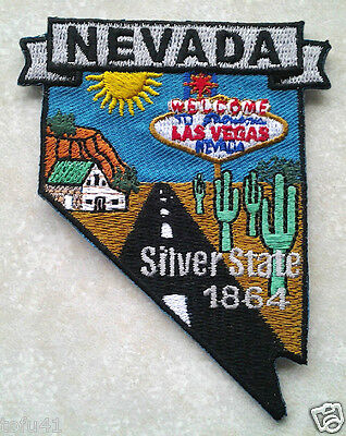 *** NEVADA STATE MAP *** Biker Patch PM6729 EE