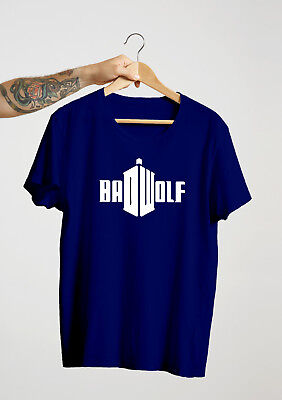 Dr Who Bad Wolf t-shirt Male, Female, kids all sizes & colours DOCTOR WHO tardis