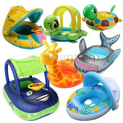 Inflatable Baby Kids Toddler Infant Swimming Pool Swim Seat Float Boat Ring New