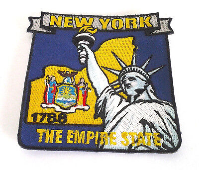 *** NEW YORK STATE MAP *** Biker Patch PM6733 EE