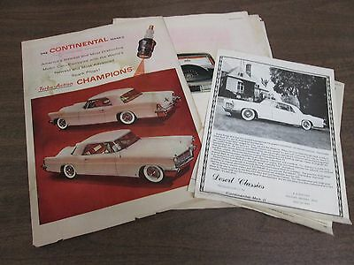 Vintage Early 1900's Ford Continental Mark 2 Magazine Advertisements, 15 pcs CAR