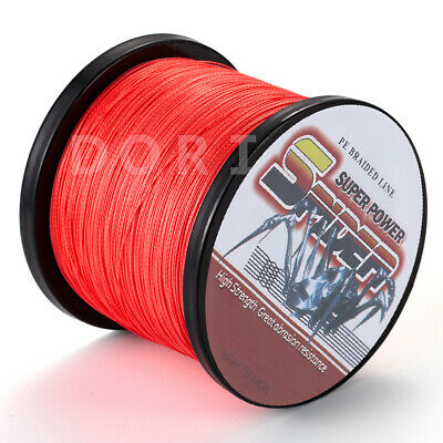 Spider 100m 300m 1000m 2000M Red PE Braided Fishing Line Super Strong Braid Line