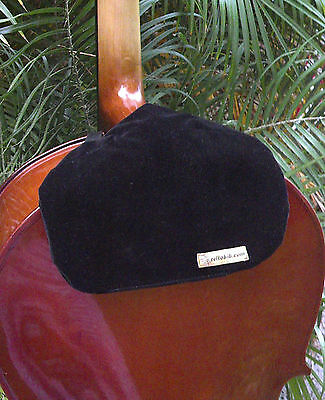 String Musical Instruments & Gear Elegant Black Velvet Cellobib With Handy Pocket For Necessities
