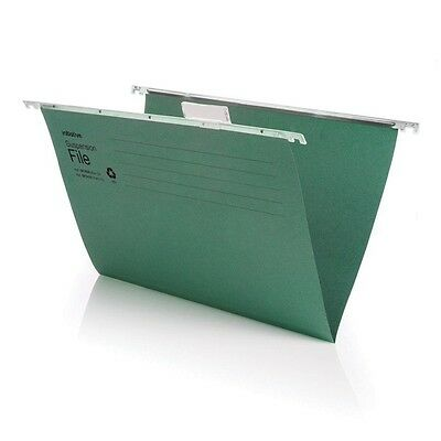 New A4 Green Suspension Files Folders With Plastic Tabs And Inserts Cheap Value