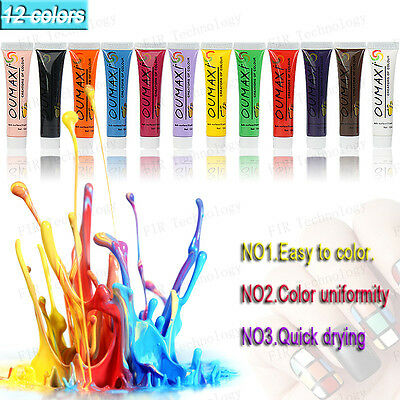 Tube de peinture acrylique Oumaxi 12 ml nail art 3D one stroke gel uv