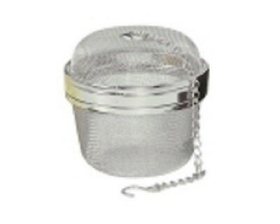"""EXTRA LARGE MESH SPICE TEA BALL STAINLESS STEEL 7.6 cm  3"""" NEW IN BOX  ICED TEA"""