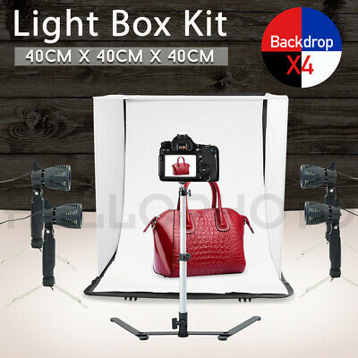 Photography Studio Continuous Lighting Tent Shooting Room Box Case Lamp Backdrop