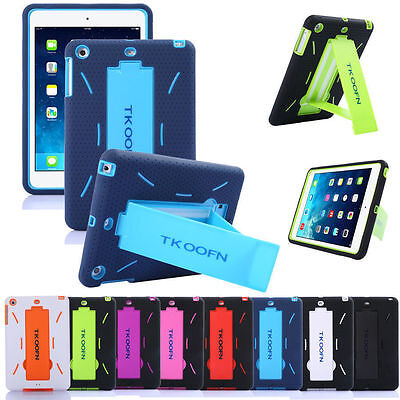Hybrid Heavy Duty Shockproof Case Cover Stand for Apple iPad 2 3 4 ipad Mini+pen