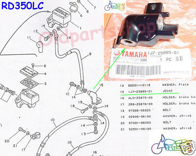 Yamaha RD350LC RD350YPVS RZ350 Master Cylinder Joint NOS Front PUMP 1J7-25885-01