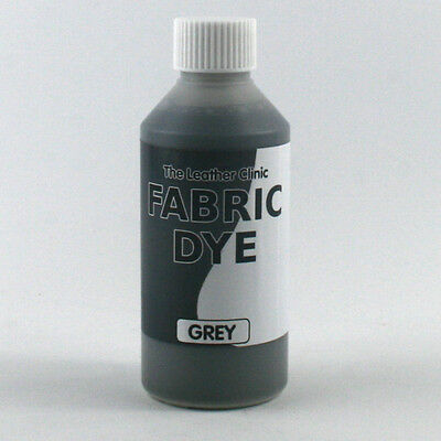 GREY Liquid Fabric Dye for Sofa, Clothes, Denim, Shoes & Upholstery. Re-colours