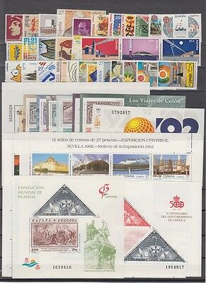 Spain - España - Year 1992 Complete With All The Stamps Mnh