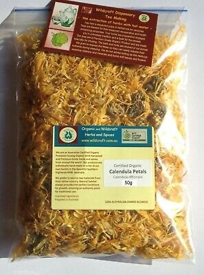 CALENDULA Flower Petals HERB TEA CERTIFIED ORGANIC DRIED Herb Officinalis 30gms
