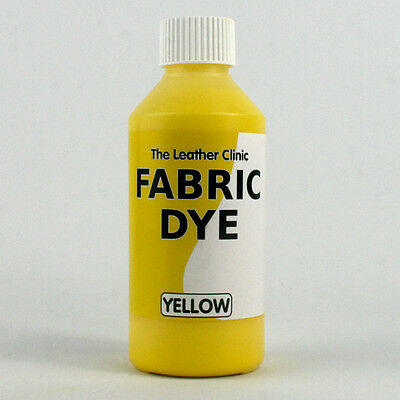 YELLOW Liquid Fabric Dye for Sofa, Clothes, Denim, Shoes & Upholstery. Re-colour