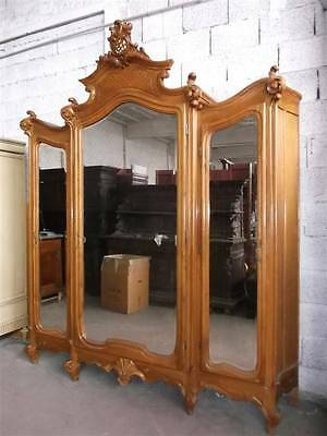 Monumental Carved Italian Antique Victorian Bedroom Set Armoire - 14It014A